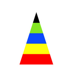 Pyramid graph with spectrum of colors vector