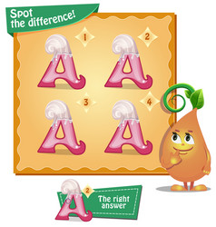 spot the difference letters a vector image