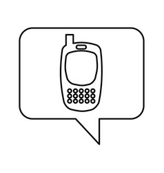 speech bubble with icon vector image