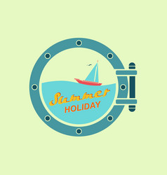 Summer holiday on yacht vector