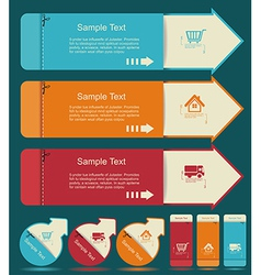 Vintage Labels template set Sale discount theme vector image