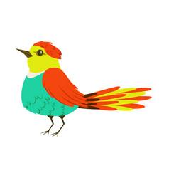 Small colorful tropical bird vector