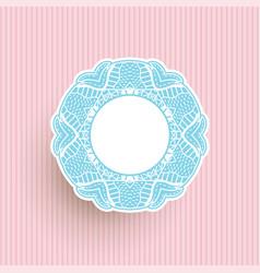 Decorative pastel frame background vector