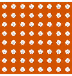 Seamless pattern with baseball balls vector