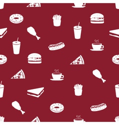 Fast food icons pattern eps10 vector