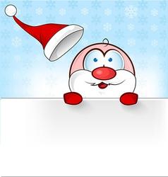 santa claus cartoon with banner vector image