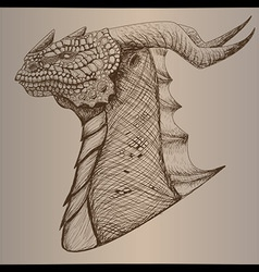 Dragon head vintage vector