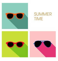 The sunglasses summer set design vector