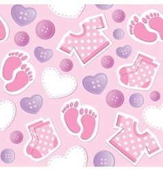 Baby pink seamless pattern vector
