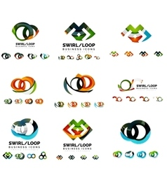 Set of company logotype branding designs swirl vector image