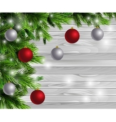 Christmas new year design wooden background vector