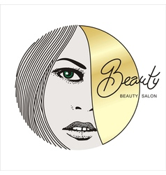 beauty face 1 vector image