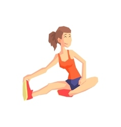 Girl stretching vector
