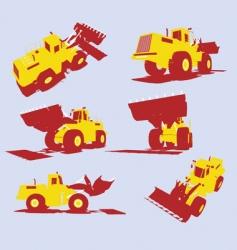 utility trucks vector image