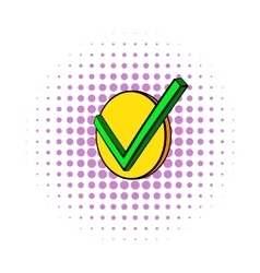 Check mark icon comics style vector