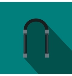 Iron arch icon flat style vector