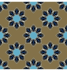Seamless blue pattern in ethnic oriental style vector
