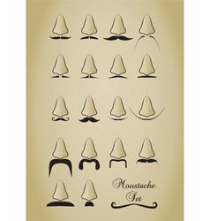 moustache vector image