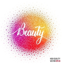 Beauty design for greeting card template woman vector