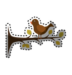 birds romantic card icon vector image