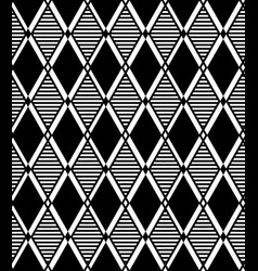 Black overlaying rhombuses pattern vector