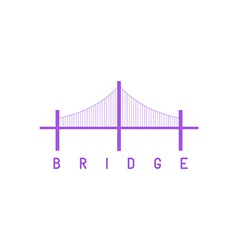 Bridge purple logo architecture concept icon vector image