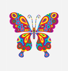 Butterfly abstract colorfully vector