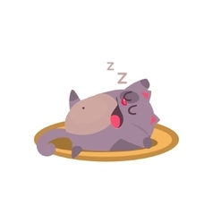 Cat Sleeping And Snoring Adorable Emoji Flat vector image vector image