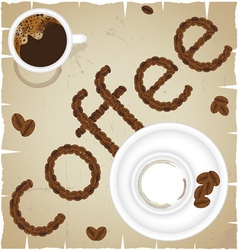 Coffee time abstract vector image