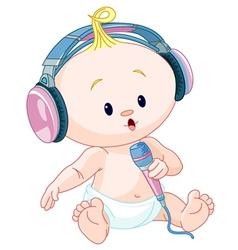 DJ baby vector image vector image