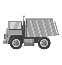 Dump truck icon gray monochrome style vector