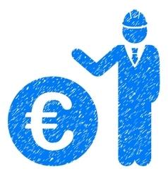 Euro developer grainy texture icon vector