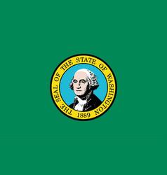 Flag of washington state vector