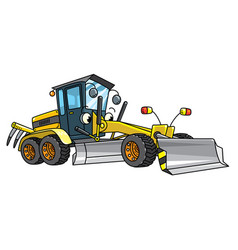 Funny grader car with eyes vector
