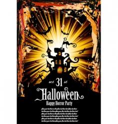 Halloween grunge flyer vector image vector image