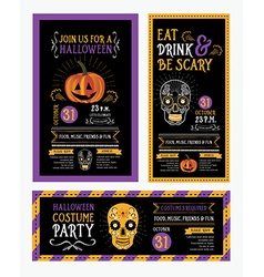 Halloween party invitation Holiday card vector image vector image