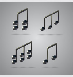 Music note icons vector