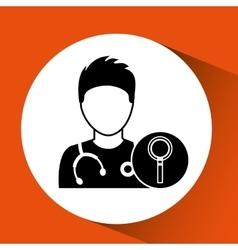 nurse cartoon search icon design vector image