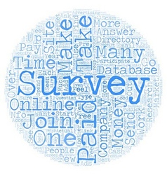 Online paid surveys money maker or scam text vector