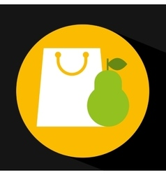 Package buying fruit pear fresh icon vector