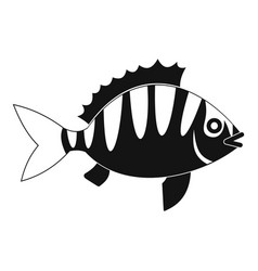 Perch icon simple style vector