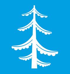 Pine icon white vector