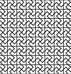 Repeating black and white floor pattern vector image