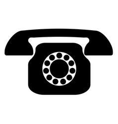 Retro telephone the black color icon vector
