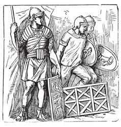 Roman segmented armors vector image vector image