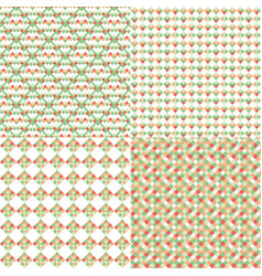 set of abstract patterns vector image