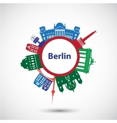 Silhouette of berlin vector