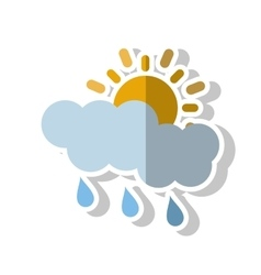 Sun cloud and rain design vector image vector image