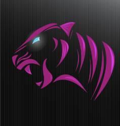 tiger modern vector image vector image