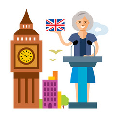 United kingdom policy woman politician vector